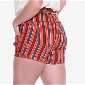 Star Wars Pin Stripe High Waist Shorts